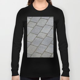 TEXTURES -- Pavingstone Pattern Long Sleeve T-shirt