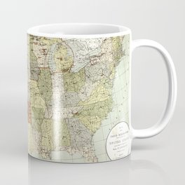 United States - Indian reservations - 1892 Coffee Mug