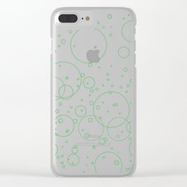 Green Bubbles Clear iPhone Case