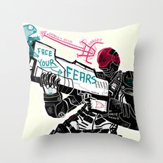 Face your Fears Throw Pillow
