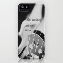 Music Begins iPhone Case