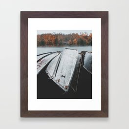 Rustic Boats Framed Art Print