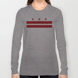 Washington, D.C. Flag Long Sleeve T-shirt