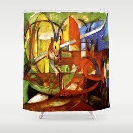 "Franz Marc ""Gazelles"" Shower Curtain"