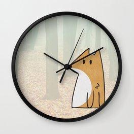 NO TAIL FOX Wall Clock