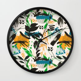Modern abstract nature III Wall Clock