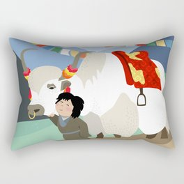 A child and his best friend Rectangular Pillow