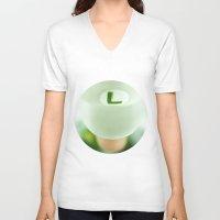 luigi V-neck T-shirts featuring Mighty Luigi by josemanuelerre