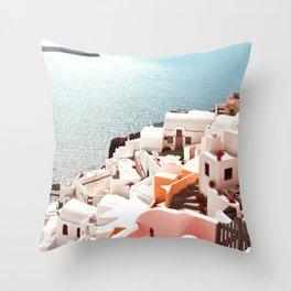 Santorini, Oia, Greece Throw Pillow