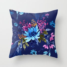 Giacinta Spring Blossom - Blue Throw Pillow