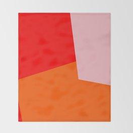 red orange pink Throw Blanket