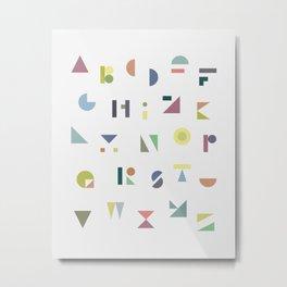 ABC colorful Metal Print