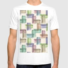 Watercolor brush strokes. Mens Fitted Tee White MEDIUM