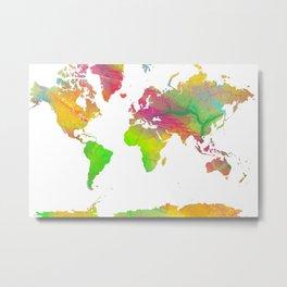 World Map - Watercolor 10 Metal Print