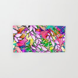 Grunge Art Floral Abstract G130 Hand & Bath Towel