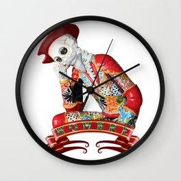 Calavera Hombre Wall Clock
