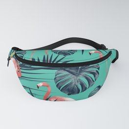 Tropical Flamingo Pattern #7 #tropical #decor #art #society6 Fanny Pack
