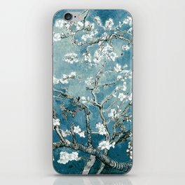 Vincent Van Gogh Almond Blossoms Teal iPhone Skin