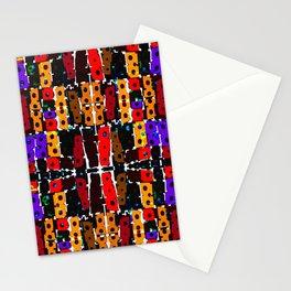 Multi Coloured Geometric Shapes Stationery Cards