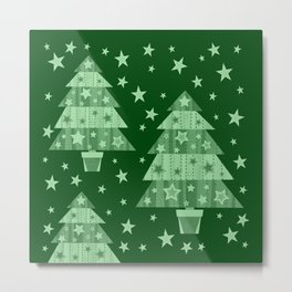 Christmas trees-green Metal Print