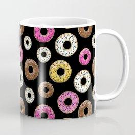 Funfetti Donuts - Black Coffee Mug