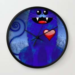 BIG BLUE Wall Clock