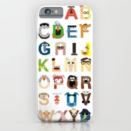 Muppet Alphabet iPhone Case