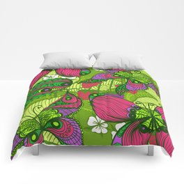 Hand Drawn Butterfly Pattern 04 Comforters