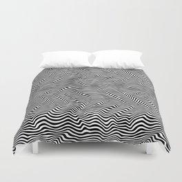 Op Art Stripes Duvet Cover