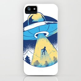 Alien abduction iPhone Case