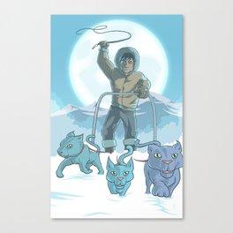 CatSled Canvas Print