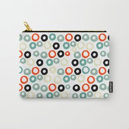 Hand painted pastel red green ivory watercolor polka dots Carry-All Pouch