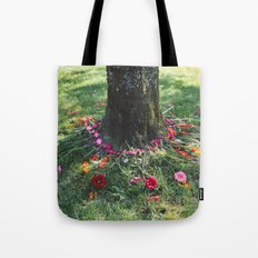 Beautiful Earth in Floral Decor Tote Bag