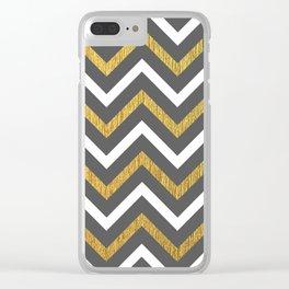 Metallic Zigzag Clear iPhone Case