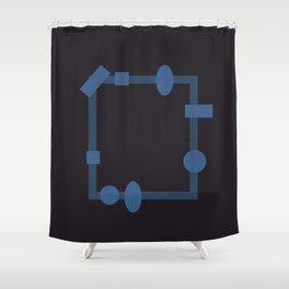 formes. Shower Curtain