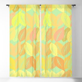 Autumn leaves pattern Blackout Curtain