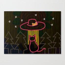 Hat-shaped UFO Canvas Print