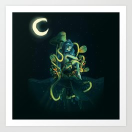 magical mermaid Art Print