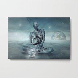Mrs. Moon Metal Print