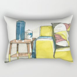 Watercolor_Interior Design_4 Rectangular Pillow