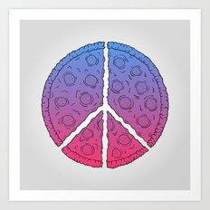 Peace & Pizza Art Print