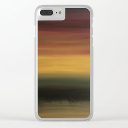 Abstract Oil Painting Clear iPhone Case