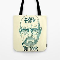 cook Tote Bags featuring The Cook by Thecansone
