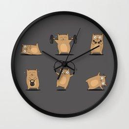 FITNESS CAT Wall Clock