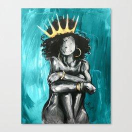 Naturally Queen IX TEAL Canvas Print