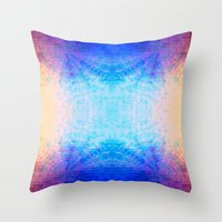 mirror Throw Pillows featuring Mirror by Vargamari