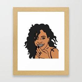 Rihanna Illustration by Jena Ardell Framed Art Print