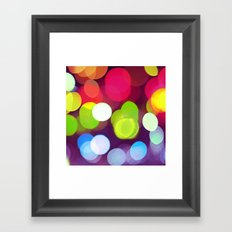 Light Dots Framed Art Print