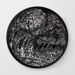 The Dark Forest of Love Wall Clock