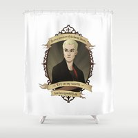 buffy Shower Curtains featuring Spike - Buffy the Vampire Slayer/Angel by muin+staers